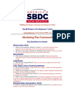 Marketing Plan Framework