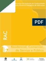 Requisitos para Avaliação de conformidade para eficiência Energetica em Edificações -RAC Portaria 50/2013