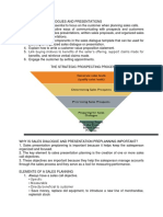 Planning Sales Dialogue and Presentation