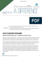Tata Sustainability Group Water Champion