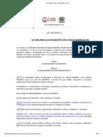 Lei Orgânica de Carlos Barbosa - RS
