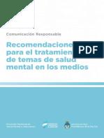 recomendaciones para el tratamiento de temas de salud mental en lo medios