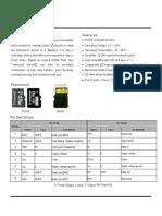 Micro SD Card Datasheet