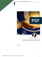 Capricorn Monthly Horoscope _ Jessica Adams