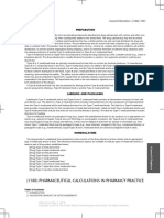 (1160) Pharmaceutical Calculations in Pharmacy Practice