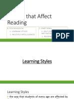 Factors That Affect Reading