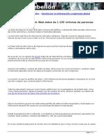 York Perry  - Encuentran en La Dark Web Datos de 1.200 Millones de Personas