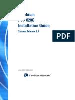 PTP 820C Installation Guide 8.0