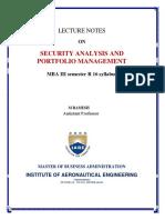 financial portfolio and risk analysis