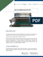 Ficha Tecnica de Sublimadora Calandra Gs170 de Aceite Sublim Arts