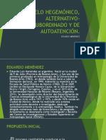 Modelo Hegemónico, Alternativo-subordinado y de Autoatención