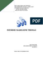 Madeleine Thomas informe psicologico