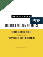 DEFENDING FREEDOM OF SPEECH