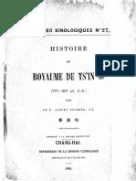 Varietes Sinologiques 27 Histoire de Tsin 777-207