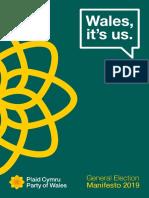 Plaid Cymru Maniffesto 2019