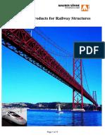 Dilatatievoegen Voor Spoorwegbruggen