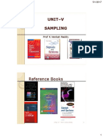 Unit-V Sampling PDF