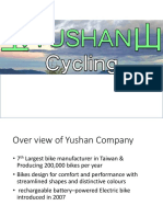 Yushan Bicycles Analysis