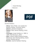 Biografia de J.K Rowling