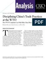 Disciplining China's Trade Practices at the WTO