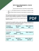 Procedimiento para programar variadores schlumberger en modo pip
