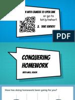 conquering homework