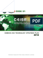 Code 31 c4isr Command, Control, Communications, Computers, Intelligence, Surveillance and Reconnaissance Science and Technology Strategic Plan 2012