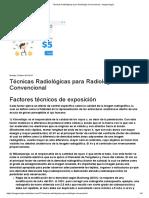 Técnicas Radiológicas para Radiología Convencional - Imagenología.pdf