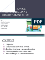 Air and Railway Reservations Sites