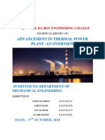 Advancement in Thermal Power Plant