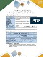 Guía de Actividades y Rubrica de Evaluación. Fase 4. Reconocimiento de La Experiencia Como Escenario. Word