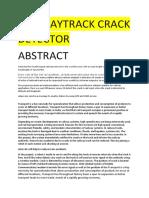 Railwaytrack Crack Detector