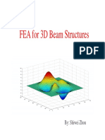 FEA Code in Matlab for 3DBeam