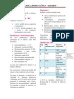 Insuficiencia Renal Crónica - Resumen