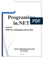 Assignment Programming in .NET - (1)