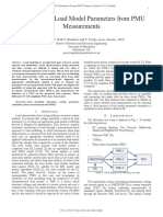 Estimation of Load Model Parameters From PMU Measurements