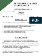 Physics Final Exam