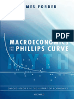 Macroeconomics and the Phillips Curve Myth (Oxford Studies in the History of Economics) - James Forder