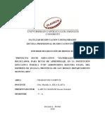 Informe Recursos Didácticos de material Reciclado