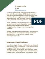 G6PD Penyakit Kurang Enzim
