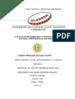 Actividad N° 11 MEDIDA CAUTELAR DE EMBARGO Y CLASES DE EMBARGO