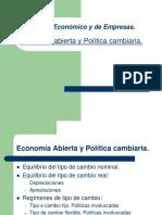 Economia Abierta y Politica Cambiaria Clase 14
