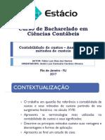 Apresentação TCC - Contabilidade de custos