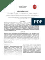 Informe 1. Hidrolisis de Sales