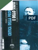 Proudhon, Pierre-Joseph-Critica Della Proprietà e Dello Stato-Elèuthera (2001)