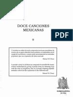 Doce Canciones Mexicanas - Manuel M. Ponce