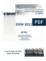 Algebra nos anos Iniciais  - report EIEM 2011