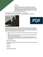 Psychoanalytic Theory by Sigmund Frued