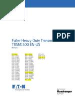 TRSM 1500 0413 Heavy Duty Trans RTO16915