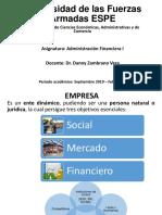 Introduccion y Generalidades de La Administracion Financiera Prof. Danny Zambrano
